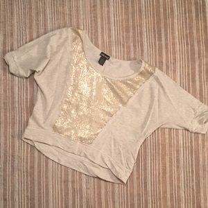 Sequined Crop Sweatshirt ☀️
